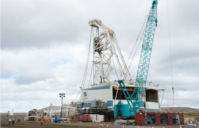 Blackwater Mine, Queensland - Dragline DRE40 Maintenance Shutdown
