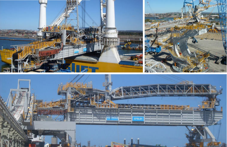 Newcastle Coal Export Terminal, NSW - Stacker Reclaimers and Shiploader Installation